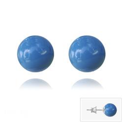 Clous d'Oreilles en Argent Perle de Cristal Nacré 8MM Lapis