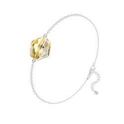 Bracelet Cosmic en Argent et Cristal Champagne