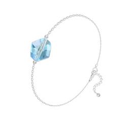 Bracelet en Cristal et Argent Bracelet Cosmic en Argent et Cristal Bleu