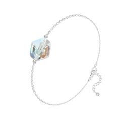 Bracelet Cosmic en Argent et Cristal Aurore Boréale