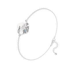 Bracelet en Cristal et Argent Bracelet Cosmic en Argent et Cristal Blanc