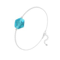 Bracelet en Cristal et Argent Bracelet Cosmic en Argent et Cristal Indicolite