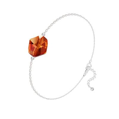 Bracelet en Cristal et Argent Bracelet Cosmic en Argent et Cristal Red Magma