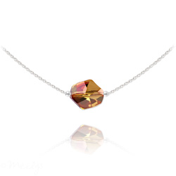 Collier Ras de Cou Cosmic en Argent et Cristal Copper