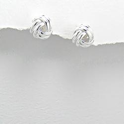 Boucles d'Oreilles Nœud Design en Argent