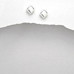 Clous d'Oreilles Cube en Argent