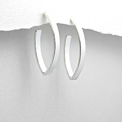 Boucles d'Oreilles Design en Argent