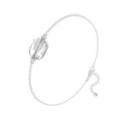 Bracelet Graphic en Argent et Cristal Blanc