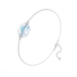 Bracelet en Cristal et Argent Bracelet Graphic en Argent et Cristal Aurore Boréale