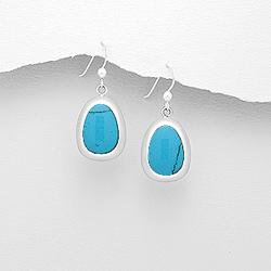 Boucles d'Oreilles en Argent et Turquoise