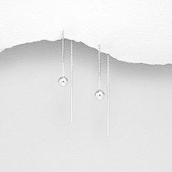 Chaînes d'Oreille en Argent Perle 5mm