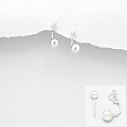 Boucles d'Oreilles Perles d'Argent
