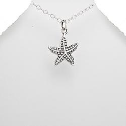 Pendentif en Argent Étoile de Mer