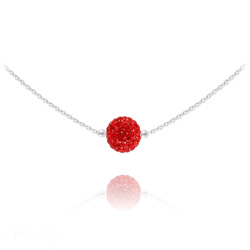Collier Ras de Cou Disco Ball 8MM en Argent et Cristal Light Siam