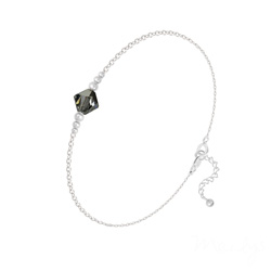 Bracelet en Cristal et Argent Bracelet Bicone Bead en Argent et Cristal Silver Night