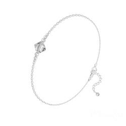 Bracelet Bicone Bead en Argent et Cristal Blanc