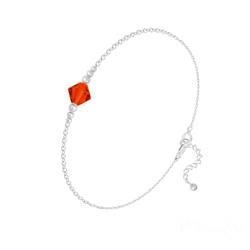 Bracelet en Cristal et Argent Bracelet Bicone Bead en Argent et Cristal Light Siam