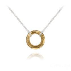 Collier Cosmic Ring 20MM en Argent et Cristal Champagne