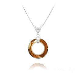 Collier Cosmic Ring 20MM V2 en Argent et Cristal Copper