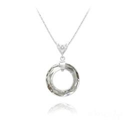 Collier Cosmic Ring 20MM V2 en Argent et Cristal CAL V SI