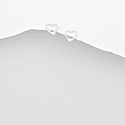 Clous d'Oreilles Coeur 6mm en Argent