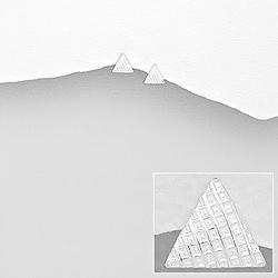Clous d'Oreilles en Argent Triangle