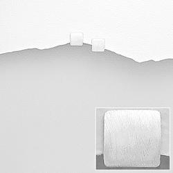 Clous d'Oreilles Carré en Argent Brossé 4mm