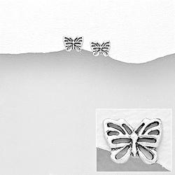 Clous d'Oreilles Papillon en Argent