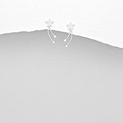Clous d'Oreilles Étoile Filante en Argent