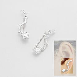 Broches d'Oreilles Constellation en Argent et Diamant CZ