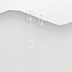 Boucles d'Oreilles en Argent Cercle 8mm