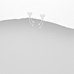 Clous d'Oreilles Coeur en Argent
