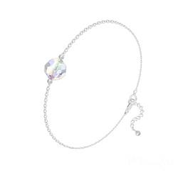 Bracelet en Cristal et Argent Bracelet Perle 8mm en Argent et Cristal Aurore Boréale