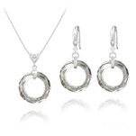 Wholesale Cosmic Ring 20MM Silver Jewelry Set with Swarovski Crystal - Cal V Si