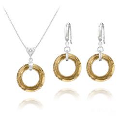 Parure Cosmic Ring 20MM en Argent et Cristal Champagne