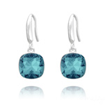 Grossiste Boucles d'Oreilles Cushion Cut Light 10mm En Argent et Cristal Indicolite