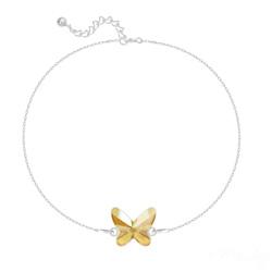 Bracelet en Cristal et Argent Bracelet Papillon en Argent et Cristal Champagne