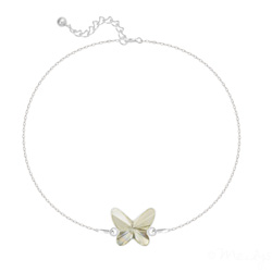 Bracelet en Cristal et Argent Bracelet Papillon en Argent et Cristal Silver Shade
