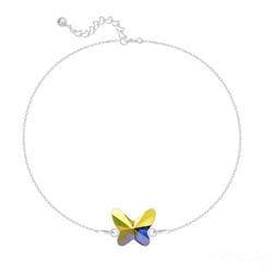 Bracelet en Cristal et Argent Bracelet Papillon en Argent et Cristal Aurore Boréale