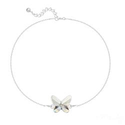 Bracelet en Cristal et Argent Bracelet Papillon en Argent et Cristal Blanc