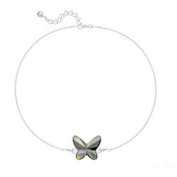 Bracelet en Cristal et Argent Bracelet Papillon en Argent et Cristal Silver Night