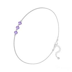 Bracelet en Cristal et Argent Bracelet 3 Rondes à Facettes en Argent et Cristal Tanzanite