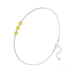 Bracelet en Cristal et Argent Bracelet 3 Rondes à Facettes en Argent et Cristal Sun Flower
