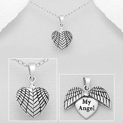Pendentif Coeur My Angel en Argent