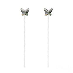 Chaînes d'Oreilles Papillon 8MM en Argent et Cristal Silver Night