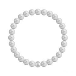 Bracelet 6mm en Argent et Perles de Cristal Nacré Pastel Grey