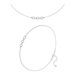 Wholesale Faceted Round Beads 4mm Silver Jewelry Set with Swarovski Crystal - Cal Fc