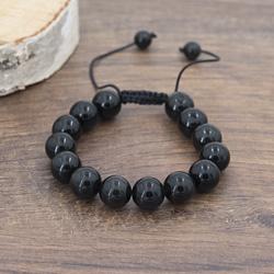 Bracelet Onyx Noir 12MM