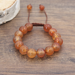Bracelet Agate Orange 12MM
