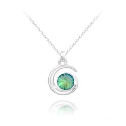 Collier Spirale Rivoli en Argent et Cristal Paradise Shine
